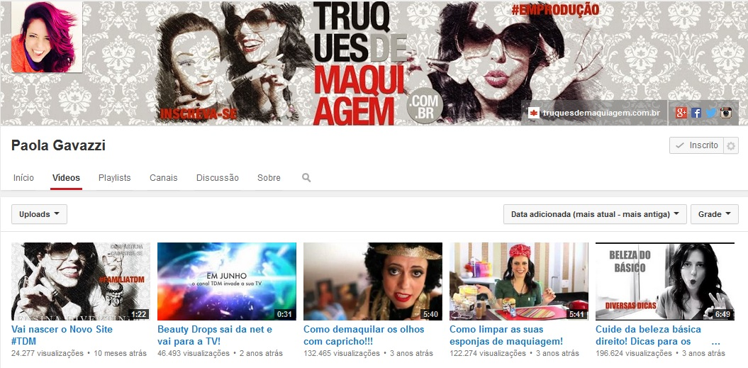 Paola Gavazzi - Canal Youtube