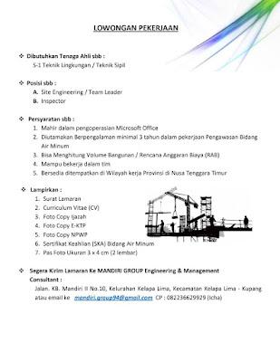 Lowongan Kerja di Mandiri Group Engineering and Management Consultant