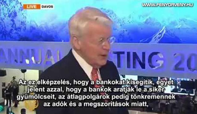 Az izlandi elnök: Hagytuk csődbe menni a bankokat