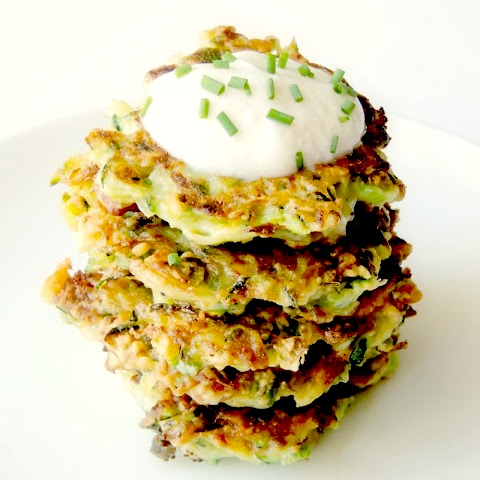 Zucchini Fritters with Bacon and Cheese