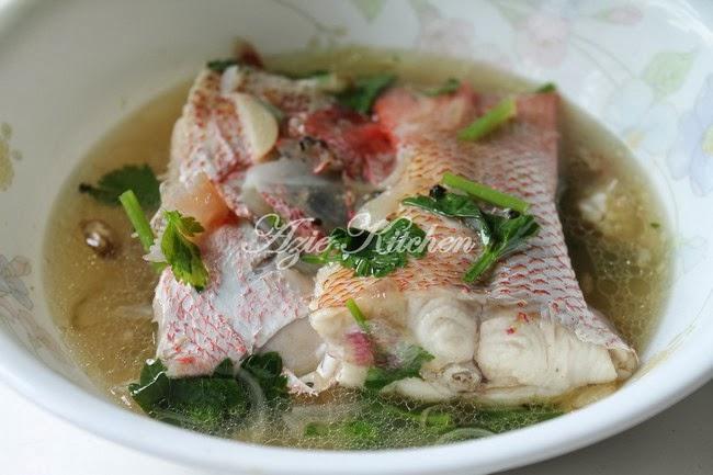 ikan merah azie kitchen Resepi Sup Ikan Dowry Enak dan Mudah