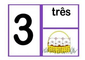 cartaz dos números para sala de aula