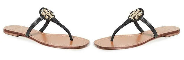 4. Tory Burch Women's Mini Miller Leather Thong Sandals