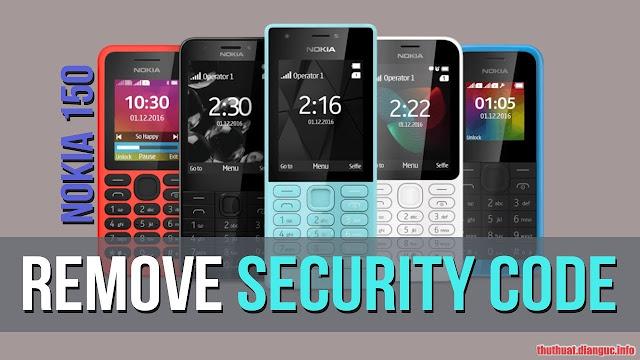 Hướng dẫn xóa Mã bảo vệ cho Nokia 150 (RM-1190)