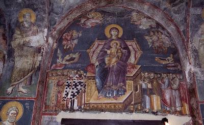 τοιχογραφία Περιβλέπτου Αχρίδος,   διά χειρός Μιχαήλ Αστραπά και Ευτυχίου, 1294-5 μ.Χ.