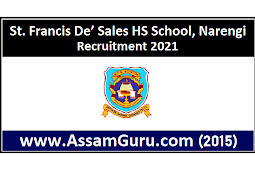 St. Francis De' Sales HS School, Narengi Recruitment 2021 | Assistant Librarian And Other Posts