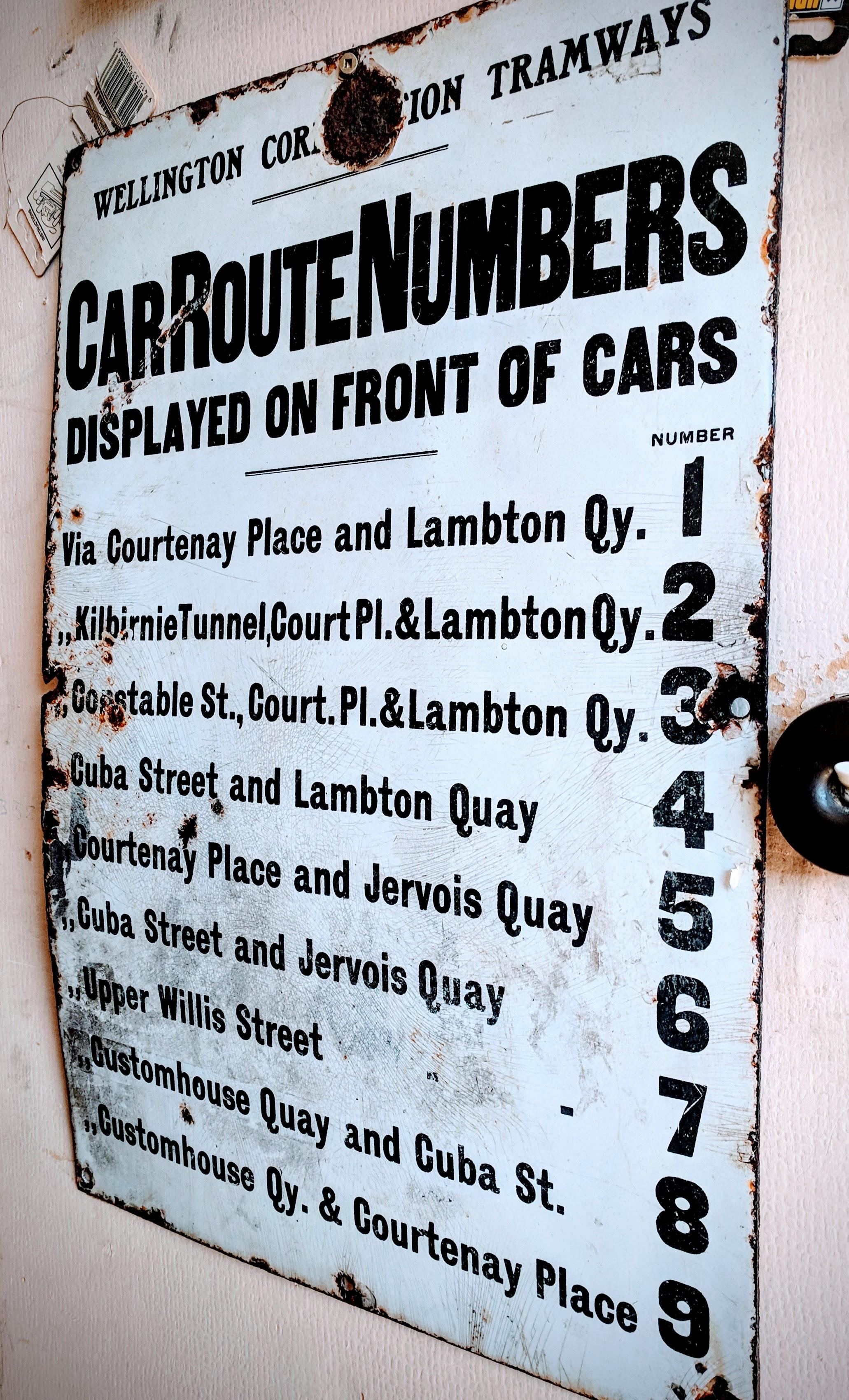 Wellington tram times