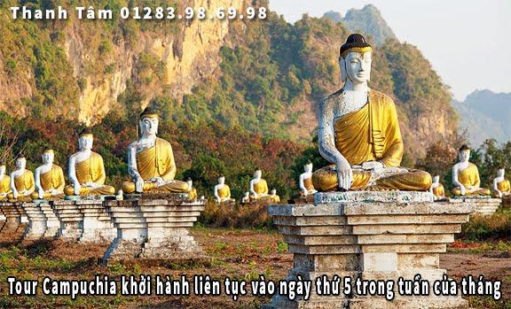 Tour Campuchia khởi hành liên tục vào ngày thứ 5 trong tuần của tháng 10
