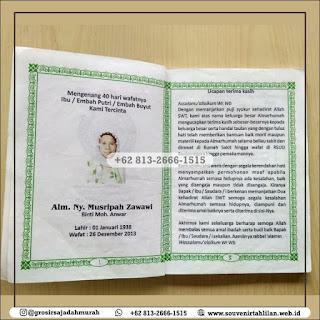 Contoh Buku Yasin Mengenang 1000 Hari | +62 813-2666-1515