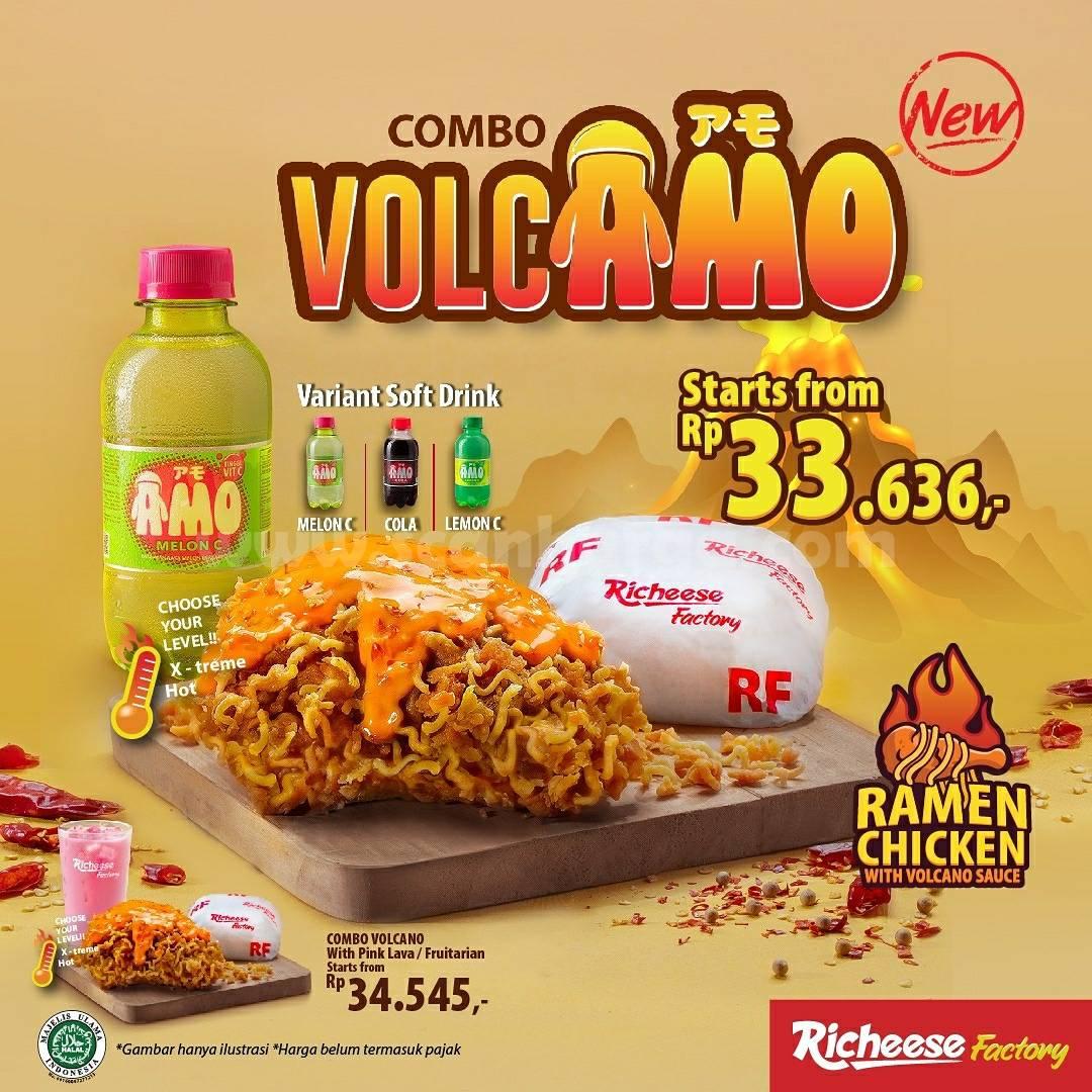 Promo Richeese Factory Combo Volcamo Ramen Chicken harga mulai Rp. 33.636