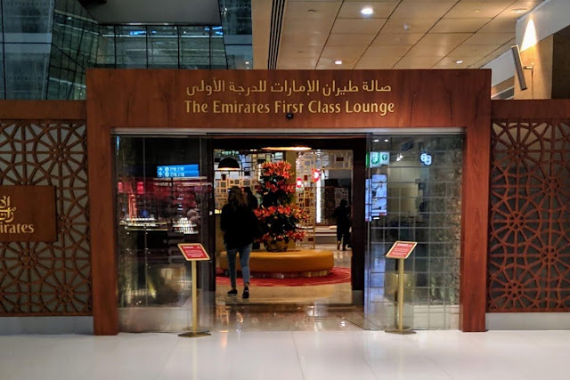 Emirates First Class Lounge in Dubai International Airport