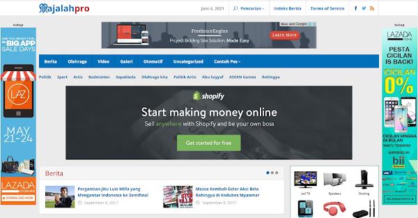 Majalahpro News Portal WordPress Theme
