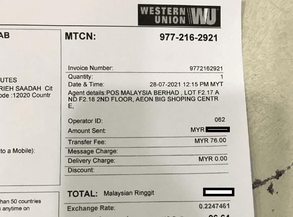 Cara Transfer Duit Ke Luar Negara Guna Western Union