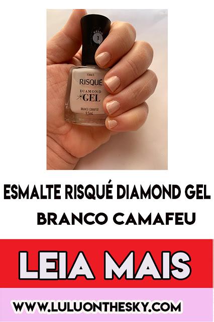 Esmalte Risqué Diamond Gel Branco Camafeu