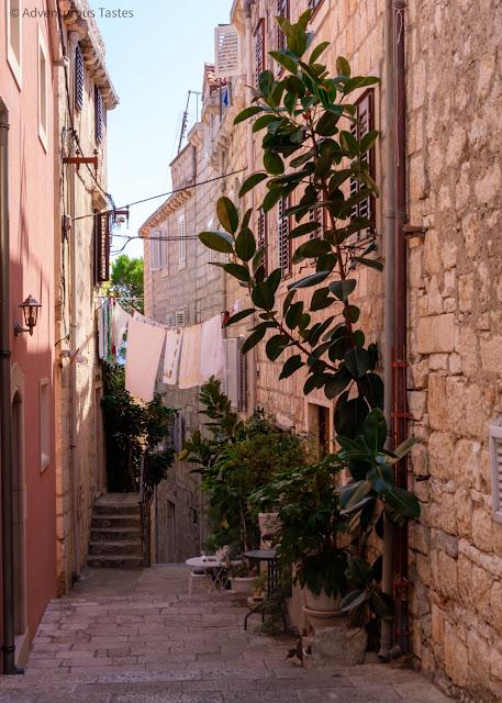 Old alleyway in Korcula, Croatia
