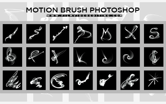 Motion Brush Photoshop | 87 Abstract Motion Brush Pack