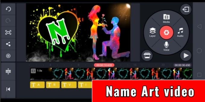 name art video kaise banaye | trending name art video | kinemaster video editing | trending name art