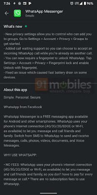 Whatsapp Call waiting feature