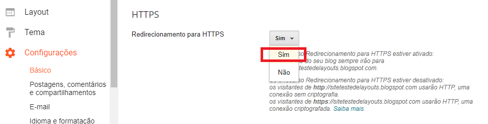 site seguro no blogger