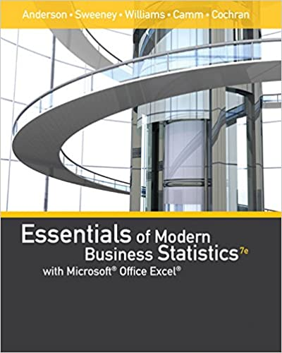 Essentials of Modern Business Statistics with Microsoft Office Excel (Book Only) 7th Edition