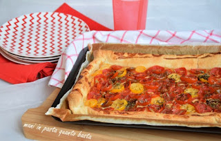 French tomato & mustard tart with tarragon