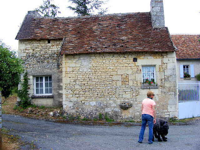 A house in a hamlet.  Indre et Loire, France. Photographed by Susan Walter. Tour the Loire Valley with a classic car and a private guide.