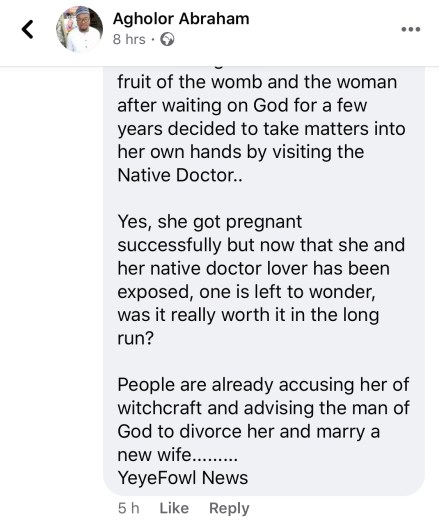 drama as native doctor impregnates pastors wife 1