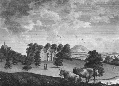 Hand Coloured in Watercolour Kirkby Hall at Kirkby Mallory Leicestershire Home to The Right Honourable Thomas Noel by J Nichols Date 1811