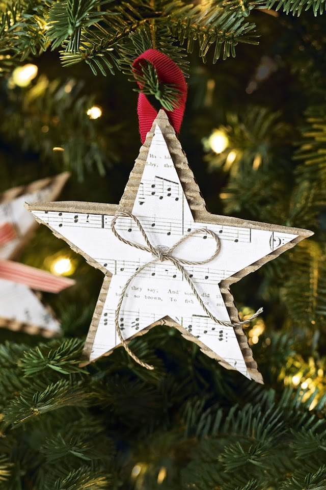 This star Christmas décor is so cute, definitely try it out !