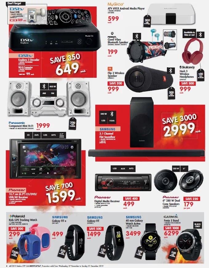 Makro Black Friday 2019 Music and Wearable Deals