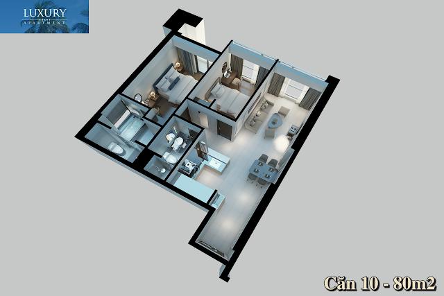 Hình ảnh 3D căn 10 Luxury Apartment