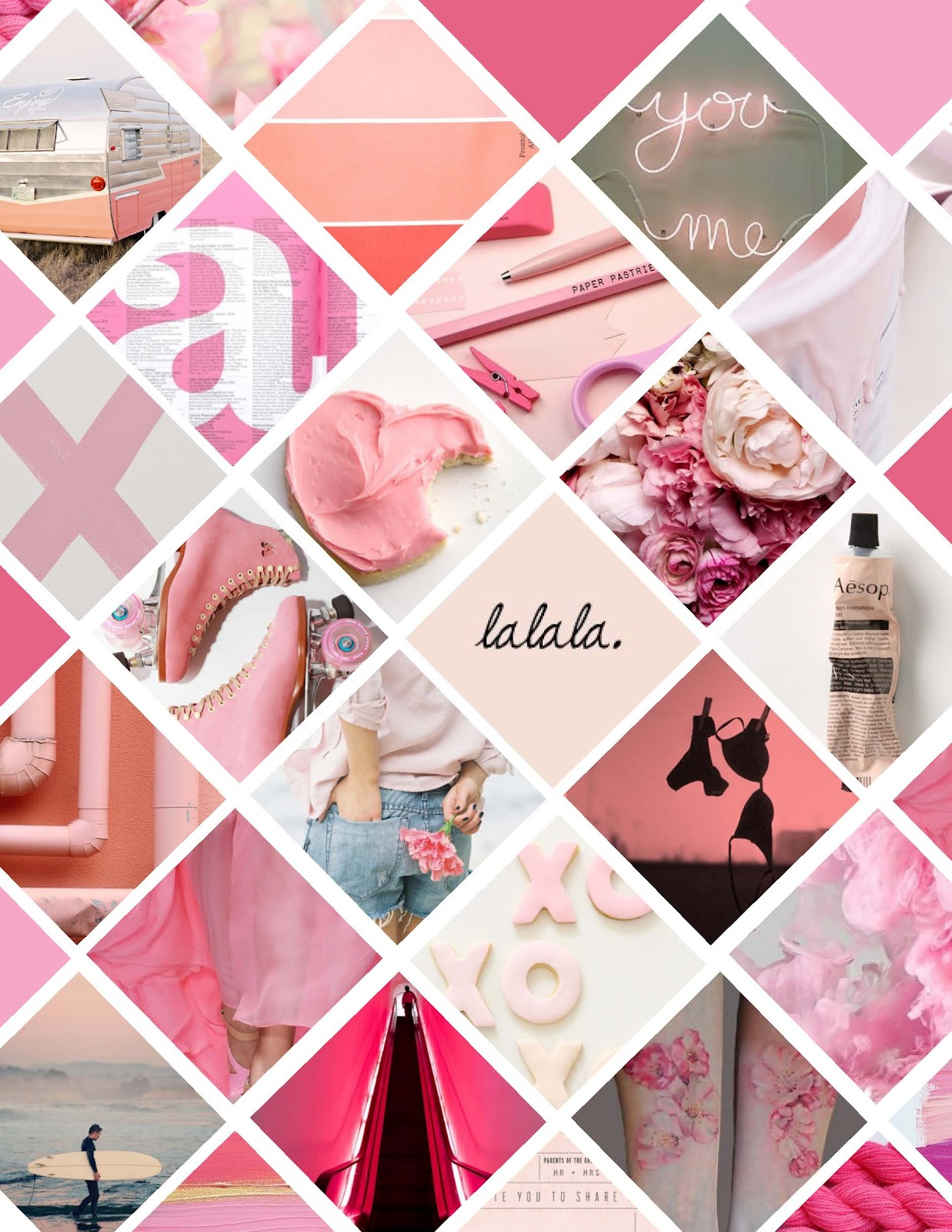 Colour Trend Escape With Me Pink Moodboard