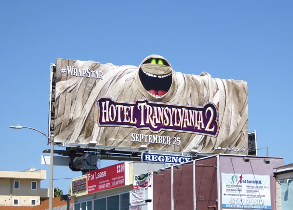 Hotel Transylvania 2 Mummy special extension billboard