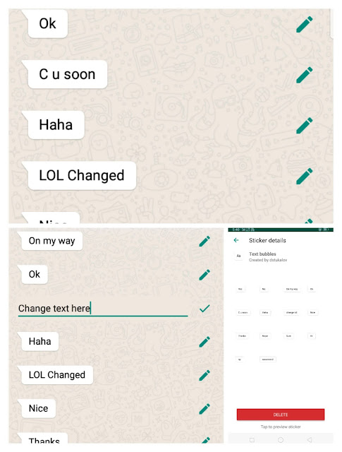 Text bubble stickers for WhatsApp Apk screenshot