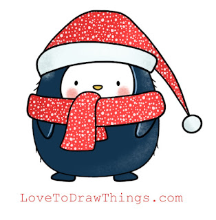 Easy Christmas drawing tutorial. Easy step by step drawing. Beginners drawing tutorial