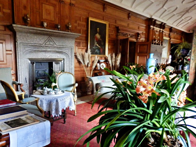 Large rooms for entertaining at Lanhydrock House, Cornwall