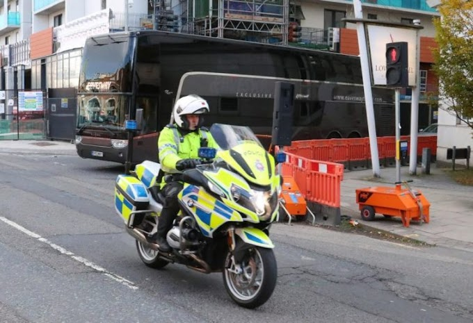 Police Escort Man Utd To Airport For Roma Europa League Clash