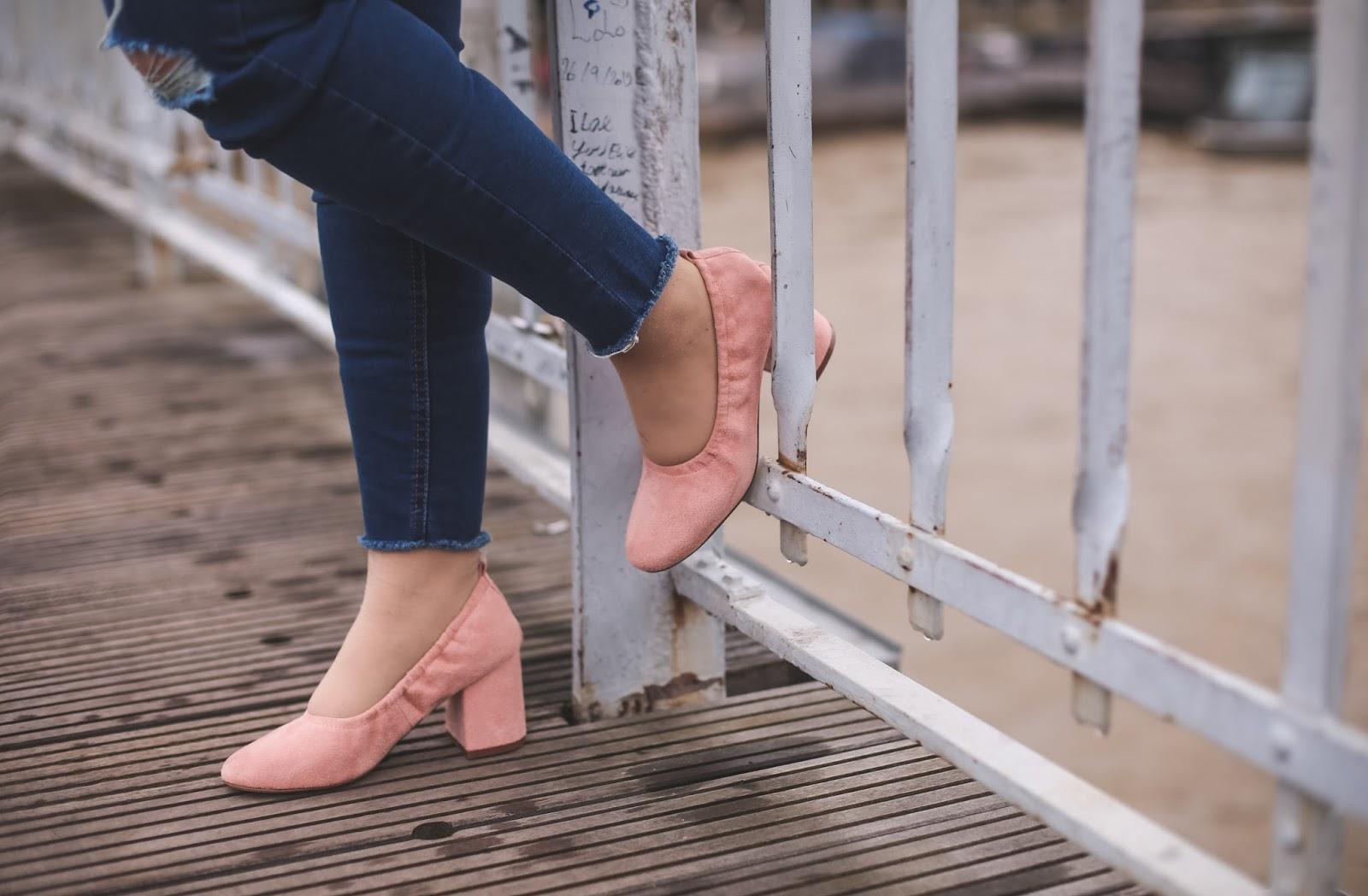 ballerines roses à talons blog mode