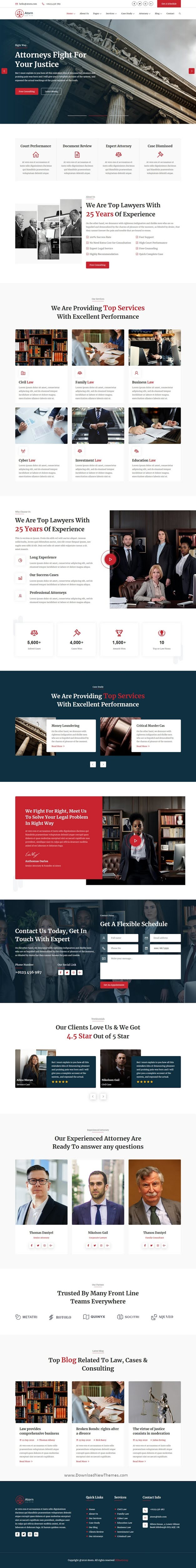 Law Firm & Attorney HTML Template
