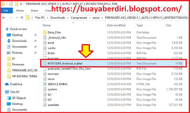 Contoh File Scatter hp android - MT6735M_Android_scatter