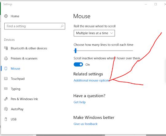 Computer Mouse Advanced Settings