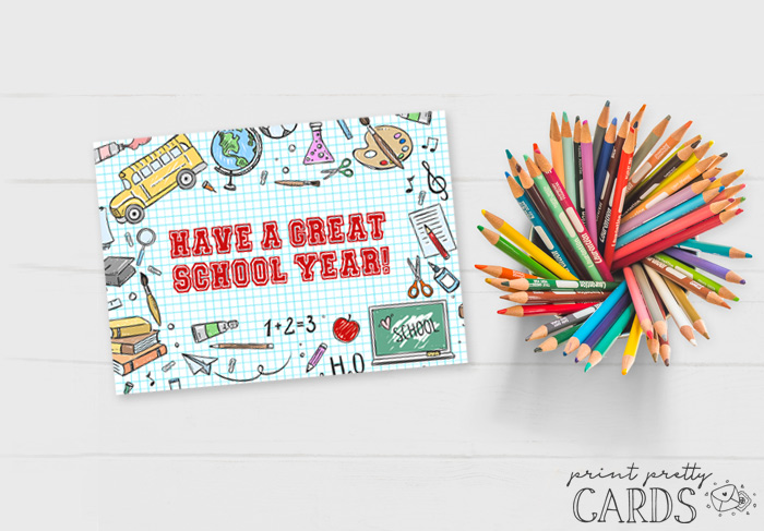Printable Back to School Cards