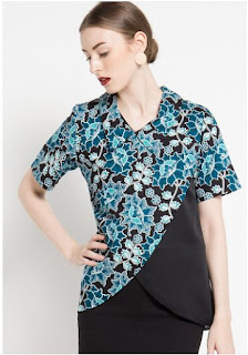 Contoh Model Baju Batik Atasan Modis