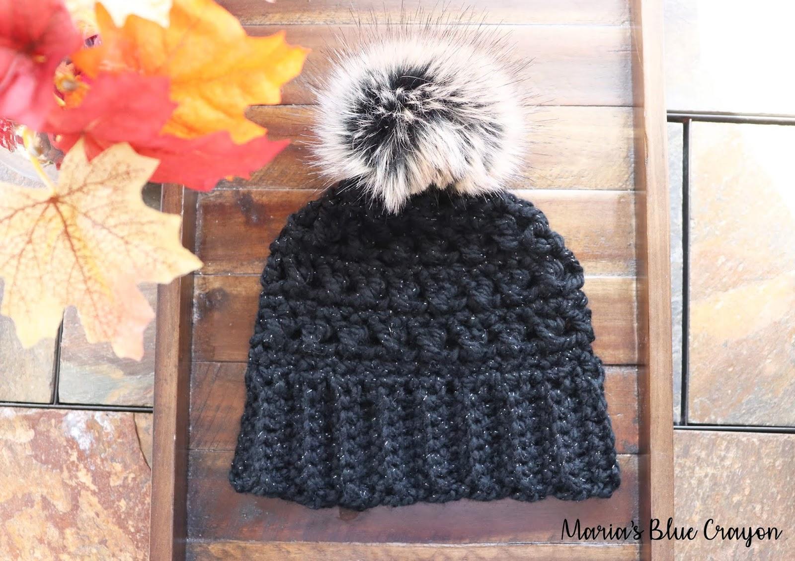 Chunky Crochet Beanie With Pom Pom Free Crochet Hat Pattern