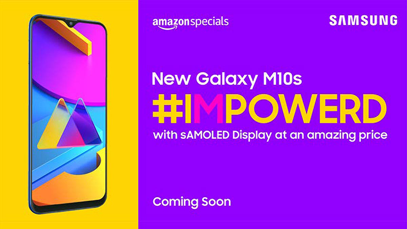 Samsung Galaxy M10s with AMOLED screen, 4,000mAh battery, and dual-cam