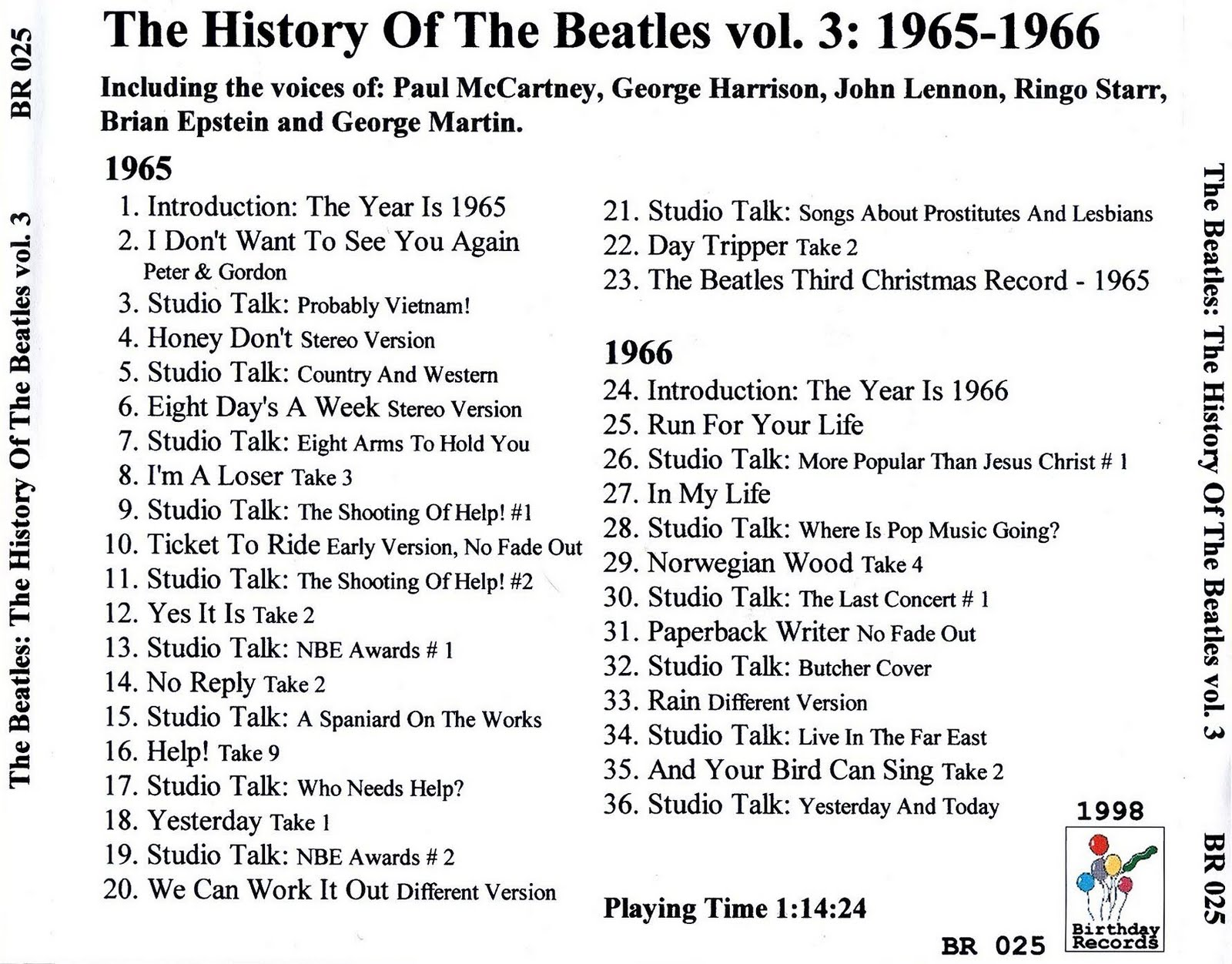 The Be・・・・: The History Of The Beatles Vol  3: 1965