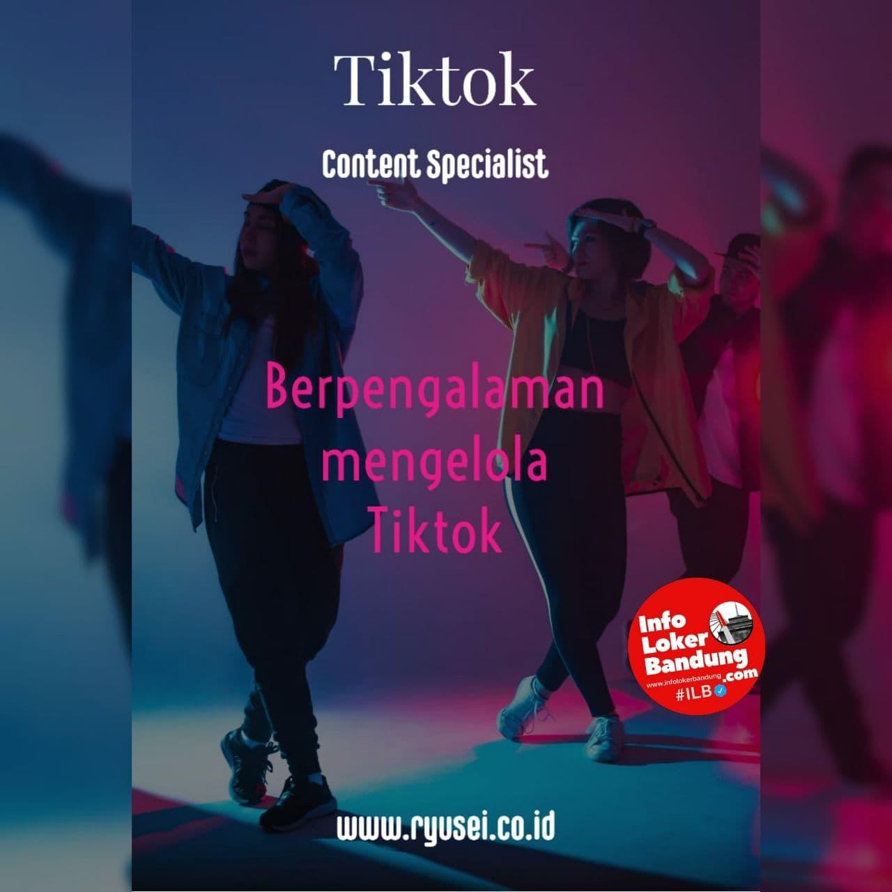 Lowongan Kerja Content Creator Tiktok Ryusei Indonesia Bandung Desember 2020