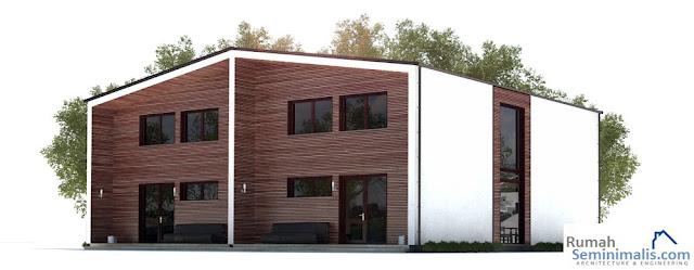 Denah Model Desain Gambar Rumah Minimalis Idaman Modern Tipe 70