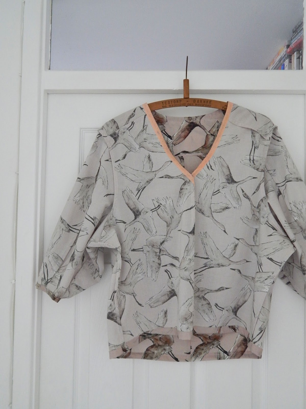 Burda Deep V Blouse Dressmaking Birds