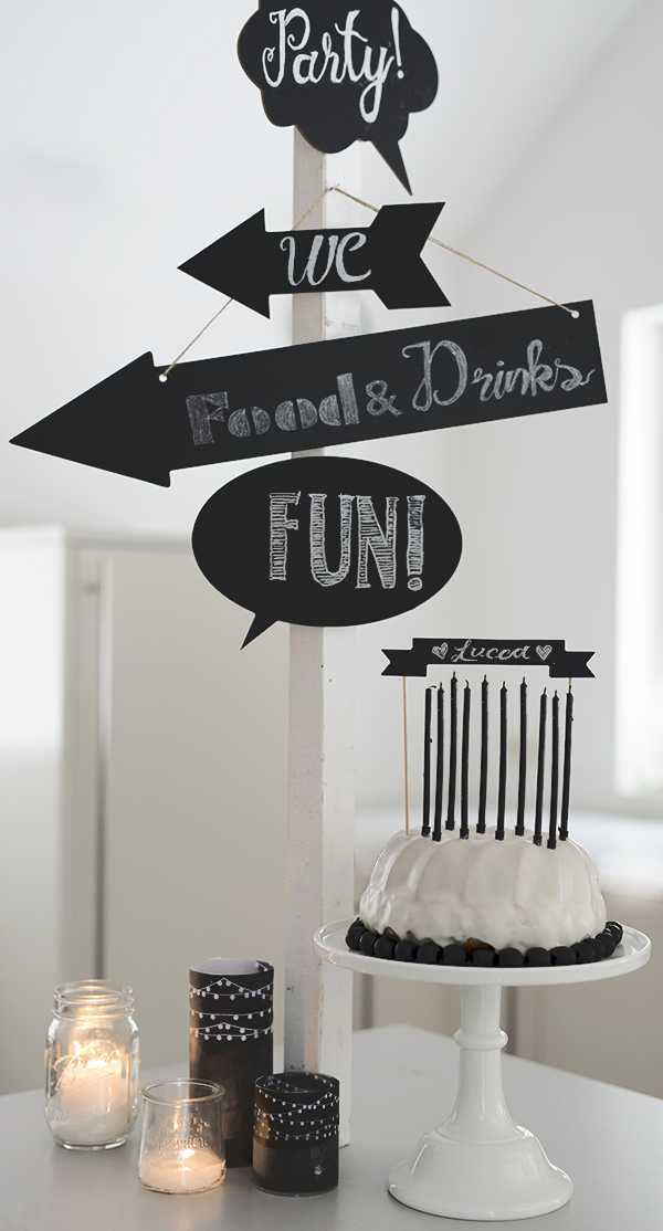 wunderschoen gemacht chalkart tischdekoration 10 kinder geburtstag. Black Bedroom Furniture Sets. Home Design Ideas